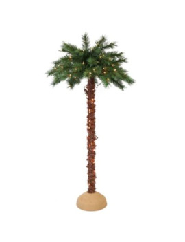 Puleo International 4 Foot Pre Lit Artificial Palm Tree by Bed Bath And Beyond