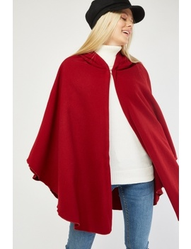 Hooded Wine Cape Poncho by Everything5 Pounds