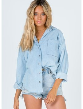 Zaiden Shirt Denim by Princess Polly