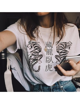Summer Fashion Women Short Sleeve Tiger Printed Casual Loose Tops Plus Size S 3 Xl by Wish