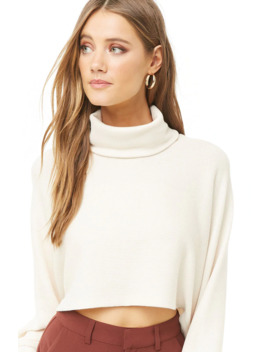 Suéter Cropped Cuello Alto by Forever 21