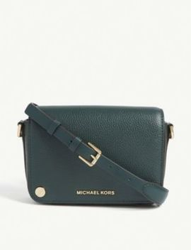 Jet Set Small Leather Cross Body Bag by Michael Michael Kors