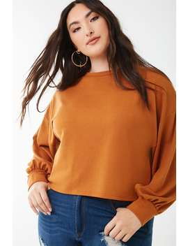 Plus Size Long Sleeve Boxy Top by Forever 21
