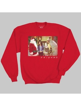 Men's Friends Christmas Fleece Pullover Sweater   Red by Ripple Junction