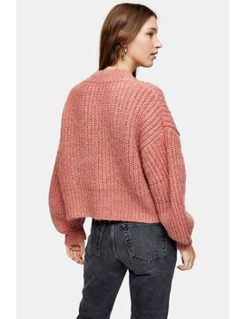Knitted Banana Sleeve Cropped Sweater by Topshop