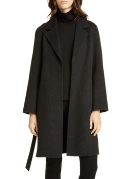 Notch Collar Wool & Cashmere Coat by Eileen Fisher