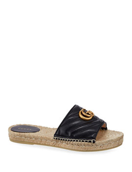 Pilar Espadrille Slide Sandals by Gucci