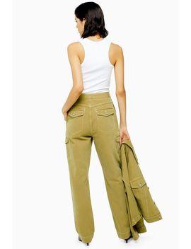 **Khaki Denim Utility Jeans By Topshop Boutique by Topshop