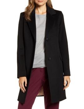 Notched Collar Wool Walker Coat by Fleurette