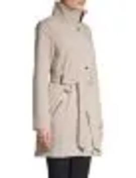 Belted Stretch Anorak Jacket by Calvin Klein