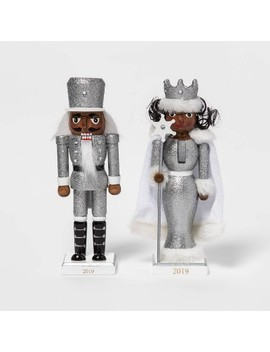 "8"" X 2.2"" 2pc Traditional Soldier And Snow Queen Nutcracker Set Silver   Wondershop™ by Wondershop"