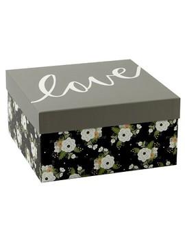 Floral Gift Box Black   Spritz™ by Spritz
