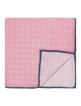 Pink Dotted Silk Pocket Square by T.M Lewin