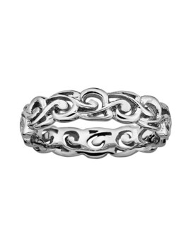 Stacks & Stones Sterling Silver Scroll Stack Ring by Stacks & Stones