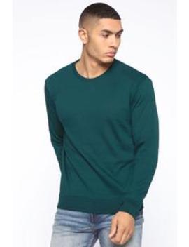 Christian Sweater   Green by Fashion Nova