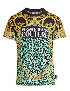 Leopard Baroque Print Tee by Versace Jeans Couture