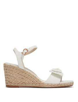 Bonnie Leather Espadrille Wedges by Sophia Webster