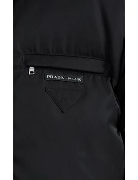 Logo Tech Twill Crop Puffer Jacket by Prada