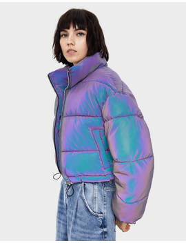 Reflective Puffer Jacket New   Bershka United States by Bershka