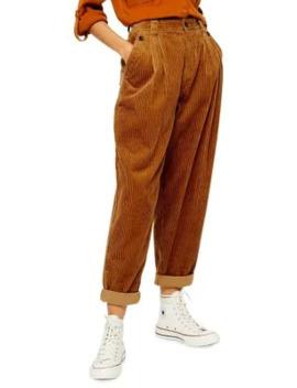 Casual Corduroy Peg Pants by Topshop