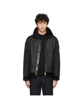 Black Down Sheepskin Ervin Jacket by Mackage