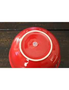Netflix Ceramic Red Popcorn Snack Bowl Made In Usa by Ebay Seller