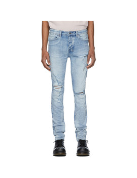 Blue Van Winkle Punk Blue Trashed Jeans by Ksubi