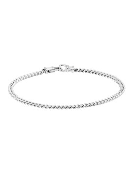 Silver Curb M Bracelet by Tom Wood