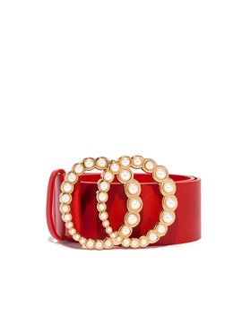 So Snatched Belt   Red by Miss Lola