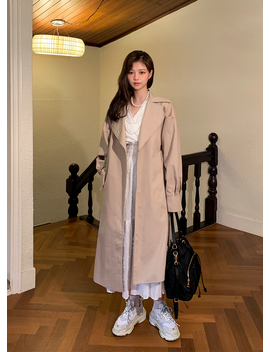 Got You Back Belted Trench Coat by Chuu