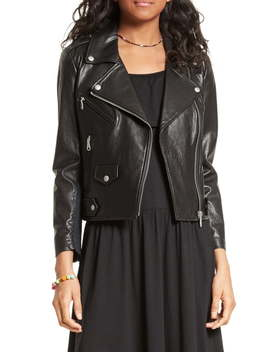 Wes Moto Leather & Neoprene Jacket by Rebecca Minkoff