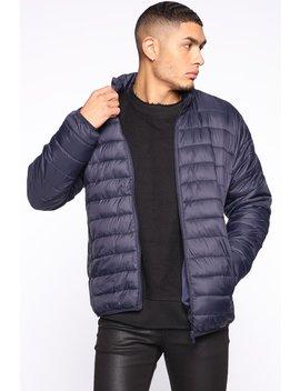 Still Tippin Casual Jacket   Navy by Fashion Nova