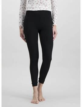 Black Pointelle 'extra Warm' Thermal Leggings   10tuc135552460 by Argos