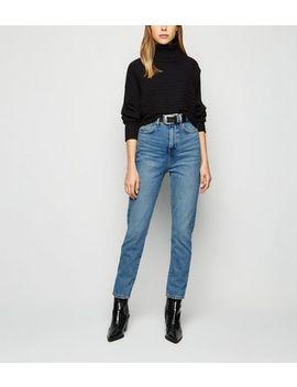 Blue Super High Waist Slim Leg Jeans by New Look