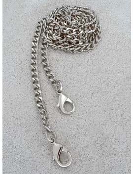 Mini Classy Curb Diamond Cut Chain Strap   Nickel Luxury Chain Wallet/Phone/Bag Strap   1/4 Inch Wide   Choice Of Length & Attachable Hooks by Etsy