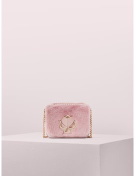 Nicola Faux Fur Twistlock Small Convertible Chain Shoulder Bag by Kate Spade