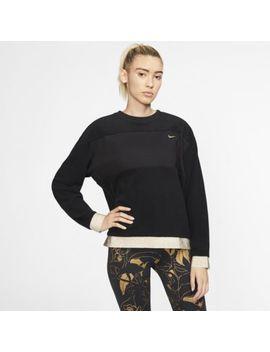 Nike Therma Icon Clash Women's Fleece Training Crew. Nike.Com by Nike