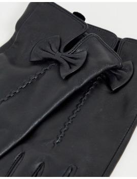 Barney's Originals   Echt Leren Handschoenen Met Strikdetail by Asos
