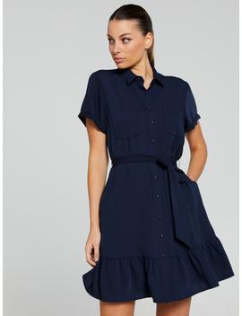 Lana Ruffle Shirt Dress by Portmans