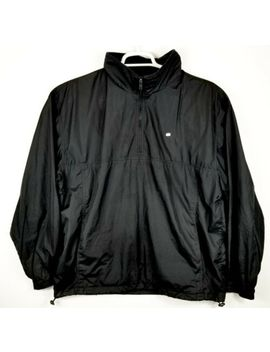 Lacoste Full Zip Windbreaker Style Jacket Black Nylon Men's Large Free Shipping by Lacoste