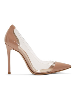 Pink Patent Plexi 105 Heels by Gianvito Rossi