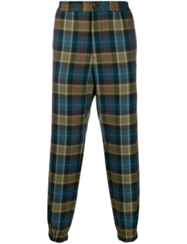 Tapered Checked Pattern Trousers by Etro