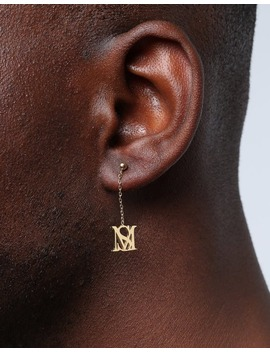 Saint Morta Monogram Drop Earring Gold by Saint Morta