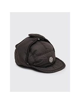 Stone Island Nylon Metal Down Hat Black by Très Bien
