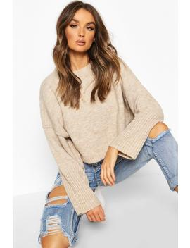 Oversized Crew Neck Soft Knit Jumper by Boohoo