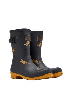 Molly Mid Height Printed Welly Rain Boot by Joules