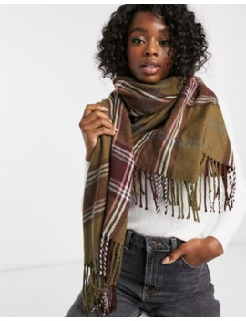 Boardmans Oversize Woven Check Scarf by Asos
