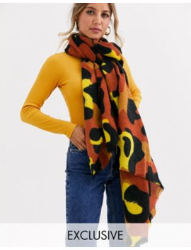 Stitch &Amp; Pieces Exclusive Bright Leopard Scarf by Stitch & Pieces'