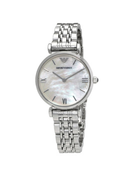 Classic Mother Of Pearl Dial Ladies Watch by Emporio Armani