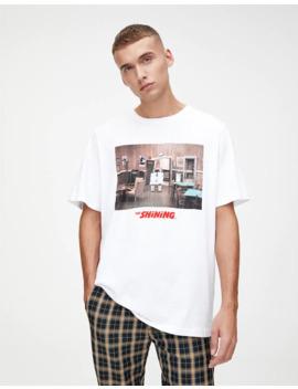 T Shirt Blanc «Shining» by Pull & Bear